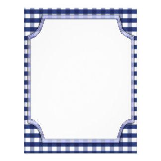 White Frame on Blue Gingham Letterhead