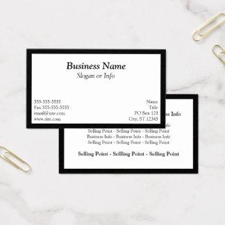White Framed Business Card