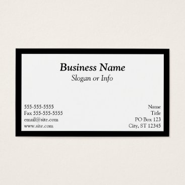 Professional Business White Framed Business Card