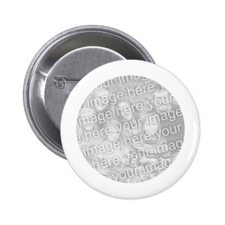 White Framed Round Photo Button
