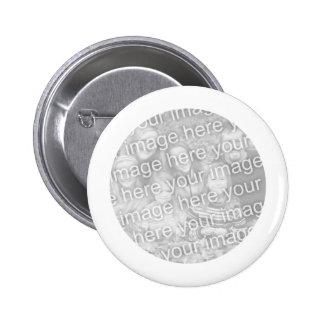 White Framed Round Photo Button