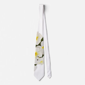 White Frangipani Flowers Tie