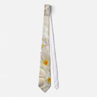 White Frangipanis Tie