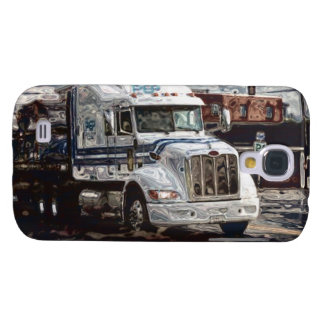 White Freight Lorry Big Rig Truckers Phone Case Galaxy S4 Covers