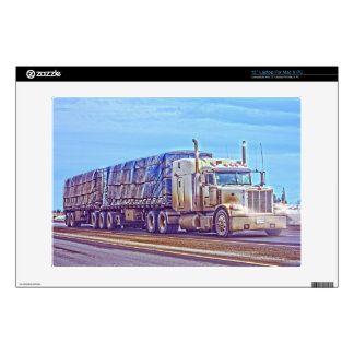 """White Freight Truck - Lorry and Highway Art 13"""" Laptop Decal"""