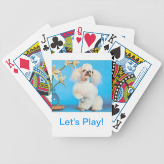 White French Poodle Dog Playing Cards