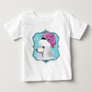 White French Poodle in Feather Hat Baby T-Shirt