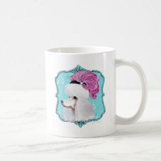 White French Poodle in Feather Hat Coffee Mug