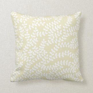 White Frest Throw Pillow
