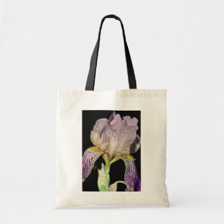white Fringed iris after rain flowers Tote Bags