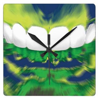 White Front Teeth Design Dentist Wall Clock