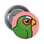White-fronted Amazon Pinback Buttons