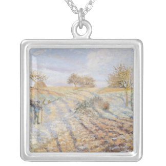 White Frost, 1873 Silver Plated Necklace