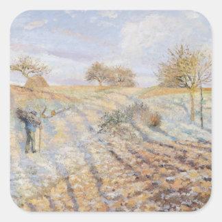 White Frost, 1873 Square Sticker