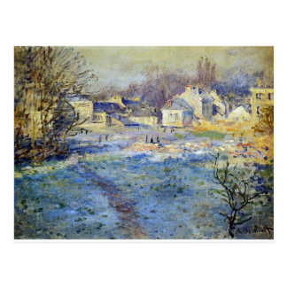 White Frost by Claude Monet Postcard