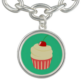 White Frosted Cupcake Bracelets