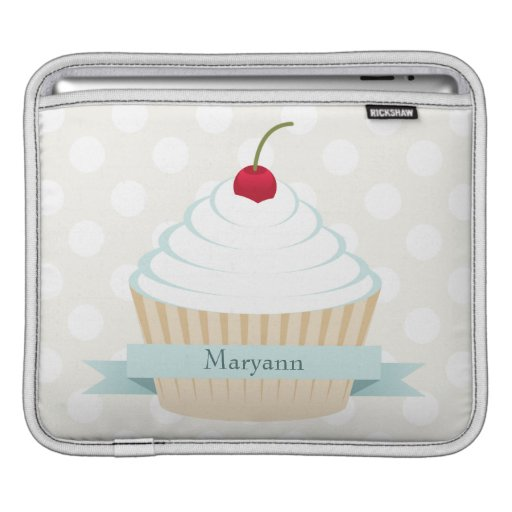 White Frosted Cupcake iPad Sleeve