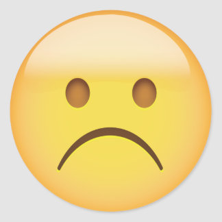 Sad Emoji Face Stickers   Zazzle