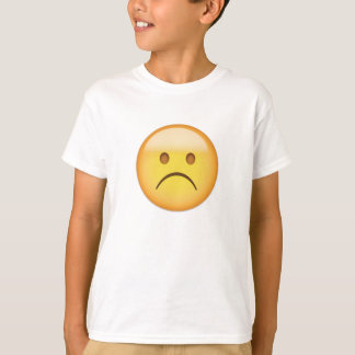 White Frowning Face Emoji T-Shirt