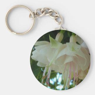 White Fuchsia Key Chain