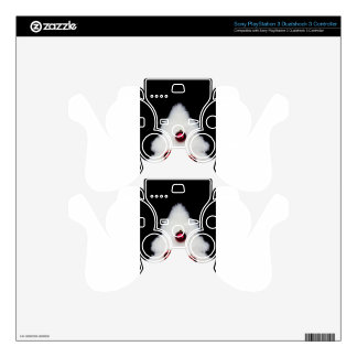 White fur christmas tree isolated on black PS3 controller skin