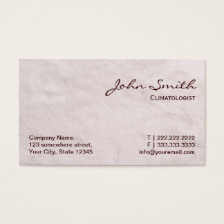 White Fur Climatologist Business Card