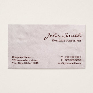 White Fur Mortgage Agent Business Card