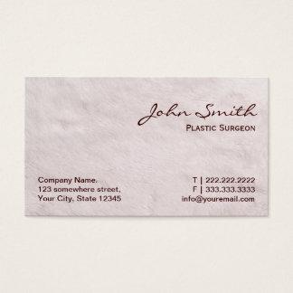 White Fur Plastic Surgeon Business Card