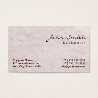 White Fur Texture Economist Business Card