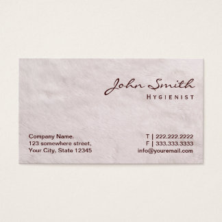 White Fur Texture Hygienist Business Card