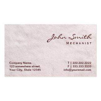 White Fur Texture Mechanic Business Card