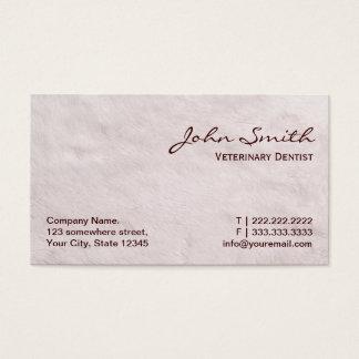 White Fur Veterinary Dentist Business Card
