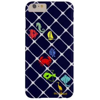 White Fuzz Nautical Barely There iPhone 6 Plus Case
