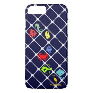 White Fuzz Nautical iPhone 8 Plus/7 Plus Case