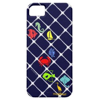White Fuzz Nautical iPhone SE/5/5s Case