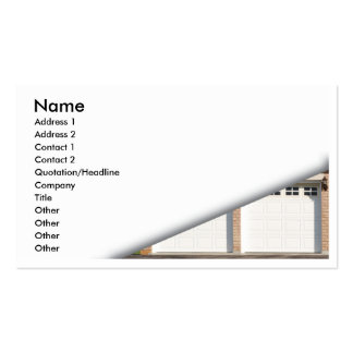 white-garage-doors Double-Sided standard business cards (Pack of 100)