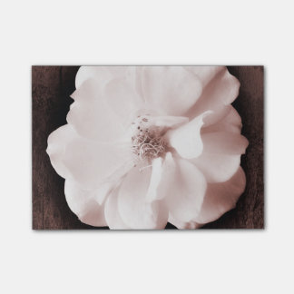 White Garden Rose Sepia Roses Floral Template Post-it® Notes