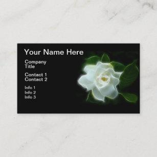 Scented business cards templates zazzle white gardenia flower plant business card colourmoves