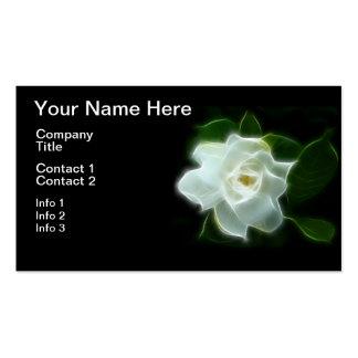 White Gardenia Flower Plant Business Card