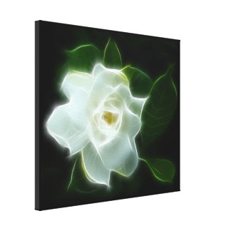 White Gardenia Flower Plant Gallery Wrap Canvas