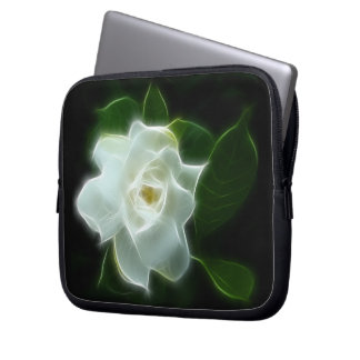 White Gardenia Flower Plant Computer Sleeves