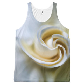 White Gardenia Illustration All-Over Print Tank Top