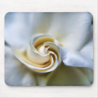 White Gardenia Illustration Mouse Pad