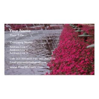 White Gardens of the Alcazar Cordoba Spain flowe Business Card Template