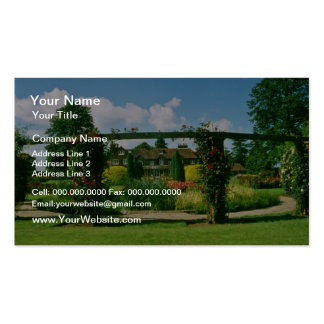White Gardens of the Rose, St. Albans, England flo Business Card