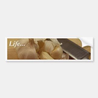 White Garlic Cloves Bumper Sticker