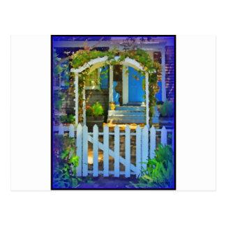 White Gate Picket Fence Postcard