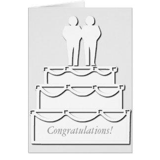 White Gay Wedding Cake Card