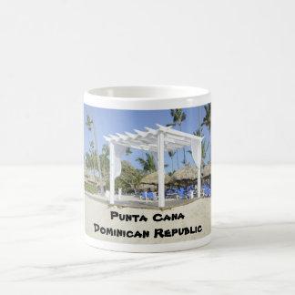 white gazebo on the beach coffee mug