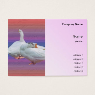white geese business card